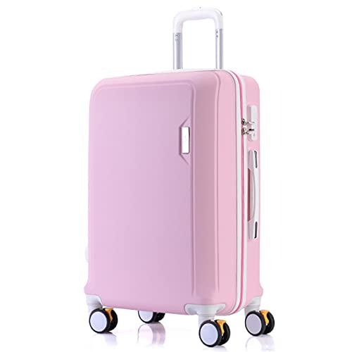 Valigia trolley in materiale ABS nero, rosso, elegante argento, verde menta, elegante blu, viola chiaro, rosa, oro rosa, 20', 22', 24', 26', 26', rosa (Rosa) - GYTF612551270