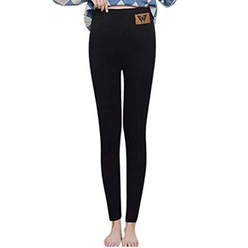 Damen Leggings mit hoher Taille und Fleecefutter - Warme, enge Thermohose - Hohe Taille, superweicher Komfort, schmale Hose, Power Stretch-Strumpfhose mit Yogahosen