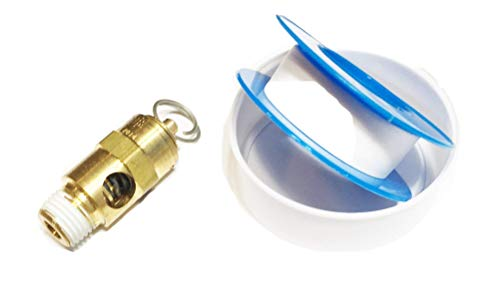 Sellerocity Kit American Made Compressor Safety Valve Compatible with Porter Cable 1000000372 C2005 Type 2 Type 3 C2025 Type 1 W/Tape