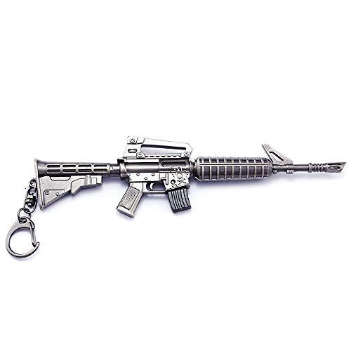 HHJBB Juego 1/6 Metal Thomson Fusil De Asalto Pistola Garnon Scar AWP Fusil De Francotirador Llavero Juguete Modelo Regalo (M4)