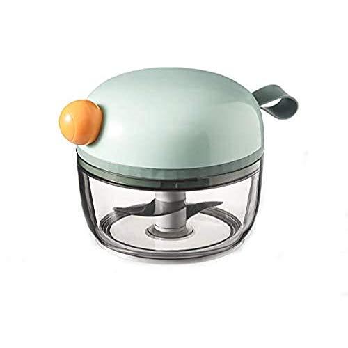 Alyssa Picadora Manual de 200 ml, Prensa de Ajo Mini Trituradora Picadora de Verduras Portátil, Vegetal Ajo Cebolla Picador Cortador, Easy Pull Procesador de Alimentos, Antimoho (Verde)
