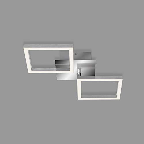 Briloner Leuchten 3207-018 orientable, 16 Watt, 1.200 Lumen, 3.000 Kelvin, plafonnier LED Couleur Chrome-Argent, W