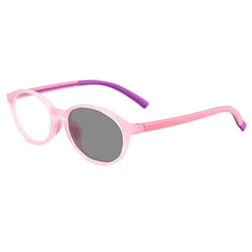 SPARROW Blue Light Blocking Glasses Kids Sunglasses Children's Fashion Accessories Intelligent Color Change For Kids 6~12 Years Old (Color : Pink)