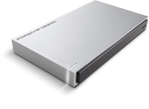 LaCie - Porsche Design 1TB USB 3.0, Portátil, 2,5' Disco Duro Externo para Mac y PC - Gris Claro