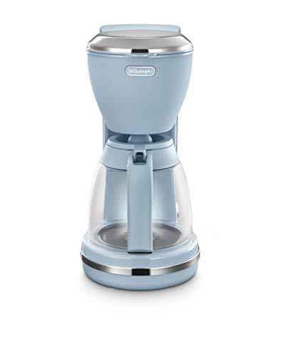 De'Longhi ICMX210.PK Argento Flora drip Coffee Machine, Plastic, 1.25 liters, Pink