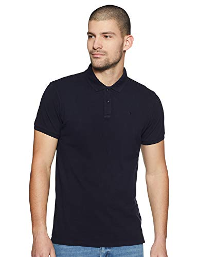 Scotch & Soda Herren Poloshirt Schwarz (night 58), Large