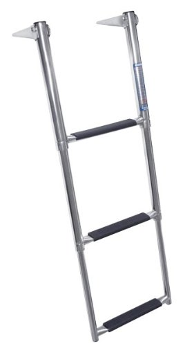 Windline TDL-3X Marine Stainless Steel Over Platform Telescoping Boat Ladder with 3 Steps