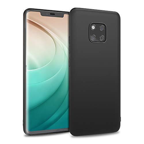 Agedate Hülle für Huawei Mate 20 Pro, Premium Soft TPU Anti-Scratch & Stoßfestes Silikon Schutzhülle für Huawei Mate 20 Pro 6,39 Zoll - Mattschwarz