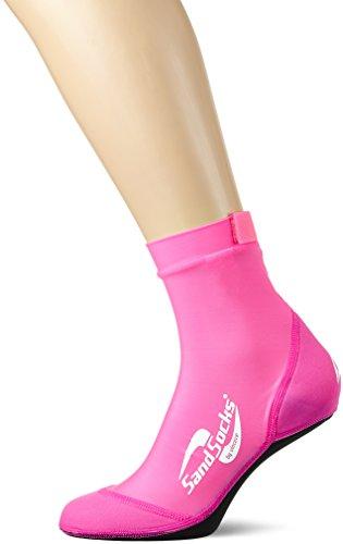 Sand-Socks Damen by Vincere – Schützende Strand-Socken für Profi- und Hobbysportler am Strand & im Wasser – Beachvolleyball Socken Frauen ohne Wund-Reibung – Damen Neoprensocken – Pink I 36-38,5