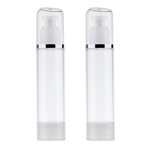 Homyl 2pcs 100ml Lozione Empty Airless Pompa Crema Contenitore di Plastica Bottiglia Cosmetica Dispenser Viaggio Contenitori