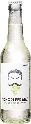 Schorlefranz vegane Weißweinschorle von Schorlefranz - Die süße Schorle in der Flasche aus Deutschland – 0,33l - 18er Pack