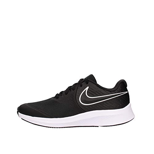 Nike Unisex Kinder Star Runner 2 (Gs) Sneaker, Schwarz Black White Black Volt 001, 39 EU