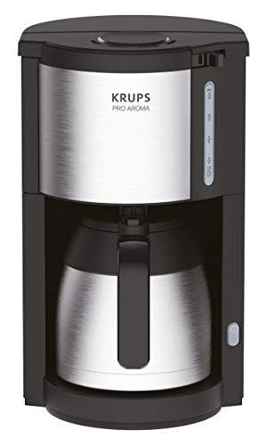 Krups KM305D10 ProAroma Thermo-Filterkaffeemaschine, 800 Watt, schwarz/edelstahl