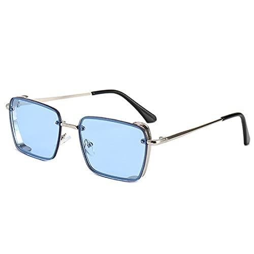 Gafas De Sol Rectangulares con Montura Metálica De Moda Visera De Sol De Moda Retro Hembra 4