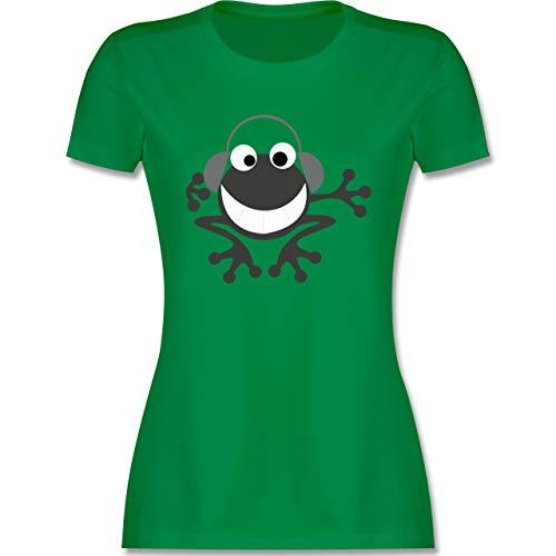 DJ - Discjockey - Discjockey Frosch - XXL - Grün - Tshirt Damen Frosch - L191 - Tailliertes Tshirt für Damen und Frauen T-Shirt