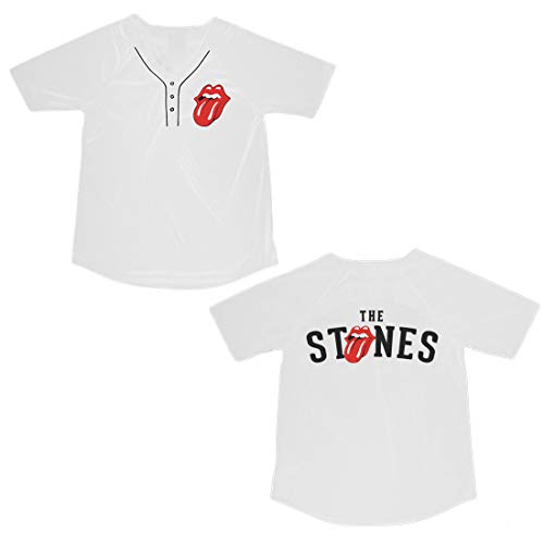 Rolling Stones The Juniors Baseball Jersey White