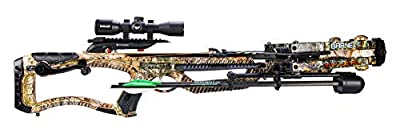Barnett Raptor Pro STR Crossbow with Crank Cocking Device | Elite Crossbow with Enhanced Safety Features, Scope, Arrows, Quiver & CCD