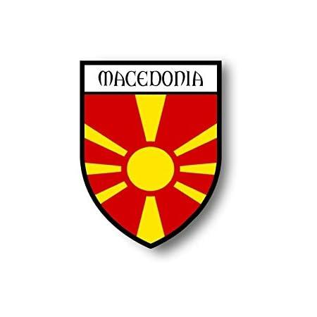 Akachafactory Aufkleber Sticker Autoaufkleber Wappen Schild Flagge Flaggen Fahne Mazedonien Auto