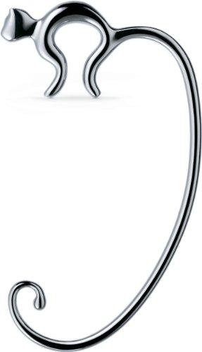 Alessi Taschenhalter, silberfarben, Edelstahl 18/10 glänzend poliert, 10, 6 x 6 x 1 cm