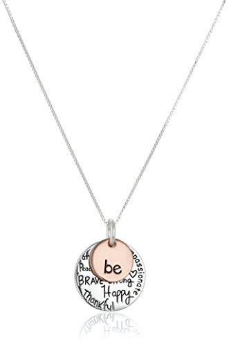 Inspirational Two-Tone Sterling Silver