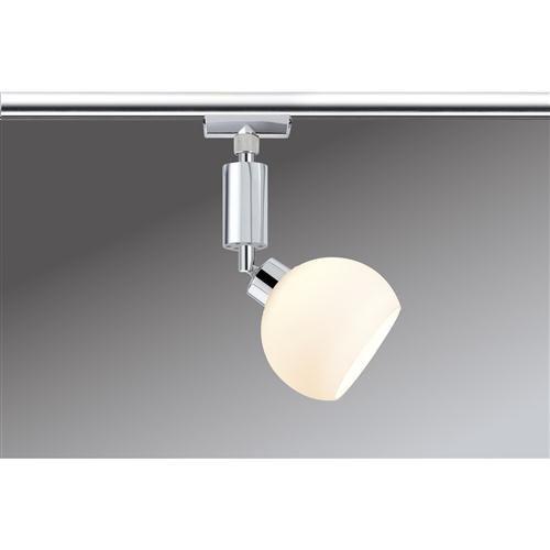Paulmann LED Stromschienensystem URail Spot Wolbi Chrom/weiß, Chrom/Weiß, Metall/ Glas, 950.98
