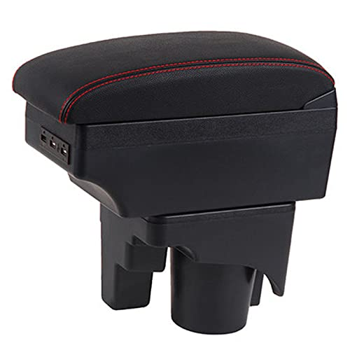 Acmxk Auto Apoyabrazos Reposabrazos para Golf 6, con Caja De Almacenamiento, Reposabrazos Consola Central Accesorios Negro