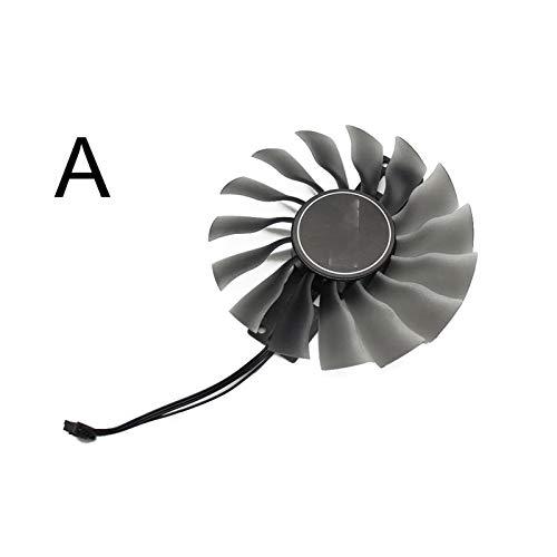 Jinyouqin 95mm Für GeForce GTX 1080 SuperjetStream GTX1080 Kühler-Fan Für Palit GTX1080 TI GTX 1070/1080 Gamerock-Karte (Blade Color : A)