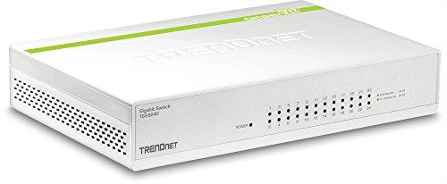 TRENDnet 24-Port Gigabit GREENnet Switch, QoS, 48 Gbps Schaltkapazität, Lüfterlos, Plug & Play, Halbduplex & Duplex, TEG-S24D