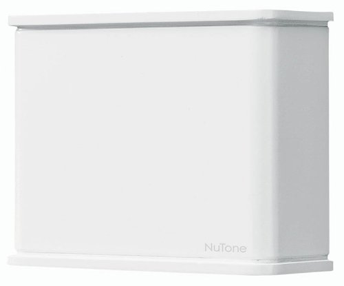 """Broan-NuTone LA130WH Doorbell, Decorative Wired Two-Note Door Chime for Home, 1"""" x 1"""" x 1"""", White"""