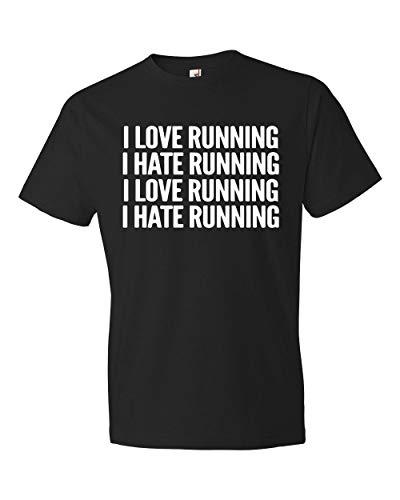 MG global I Love Running Shirt, I Hate Running Shirt, Running T-Shirt, Runner Shirt, Cardio Shirt Fitness Shirt Funny Gym Shirt Workout Shirt #OS242 Clothing