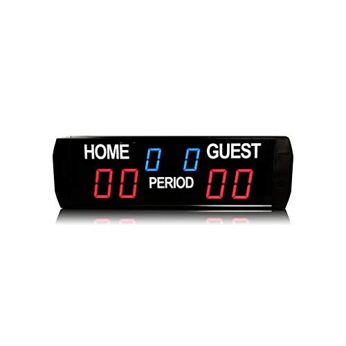 GAN XIN Marcador digital electrónico LED para uso en interiores Baloncesto/Fútbol portátil