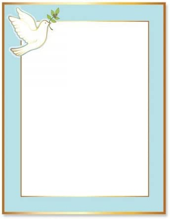 Dove Frame Faith Letter Papers - Religious 25 Stationery Free shipping Ranking TOP18 anywhere in the nation of Set