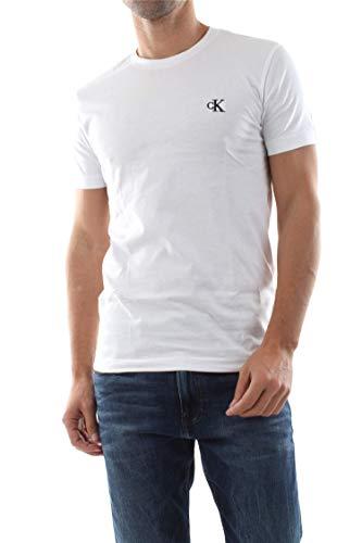 Calvin Klein CK Essential Slim Tee Maglietta, Bianco (White), S Uomo