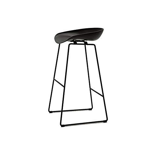 Mesa de comedor silla taburete nórdico simple negro taburete elegante minimalista hierro forjado bar silla moderno café alto escritorio taburete hogar