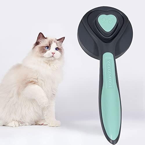 Katzenbürste Hundebürste Unterfellbürste Katze Haustierbürste Selbstreinigende Zupfbürste Tierbürste für Katzen und Hunde mit Kurzen bis Langen Haaren Sanfte Katzen Bürste
