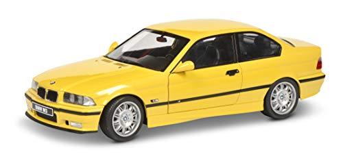 Solido 421185370 S1803902 BMW E36 Coupé M3, Baujahr 1994, Modellauto, 1:18, gelb