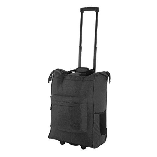 Rada ER/4 – großer Einkaufstrolley mit 35 Liter Volumen, Einkaufswagen, Handwagen, Einkaufstasche mit Rollen, Einkaufsroller, ausziehbarer Griff, robust und wasserabweisend (grau schwarz)
