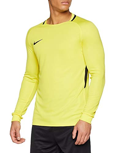Nike Herren Park III Football Jersey Long Sleeved T-shirt, Yellow (opti yellow/black/black/(black), L (Herstellergröße: L)