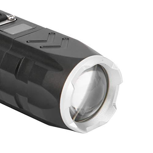 Linterna de material de aleación de aluminio, diseño de enfoque telescópico con zoom Linterna LED adecuada para acampar de aventuras al aire libre