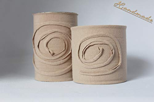Dekodosen Spirale Natur 2 Stück handmade Unikate