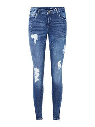Noisy may Damen Nmkimmy Nw Ankle Zip Az003mb Noos Slim Jeans, Medium Blue Denim, 29W 30L EU
