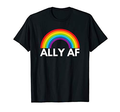Ally AF T-Shirt | LGBTQ, Gay, Equality,Trans, Lesbian, Queer