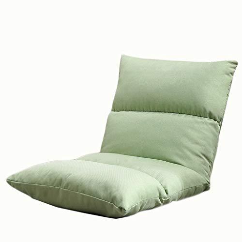TXXM Lazy Sofa Freizeit Faltbarer Einzellehner Schlafsaal Schlafzimmer Bett Computer Stuhl (Farbe: grün)