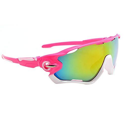 """""""N/A"""" Gafas De Sol con Montura Rosa Y Verde Amarillo Gafas De Equitación para Hombres Y Mujeres Gafas De Deporte para Viajes Al Aire Libre Gafas De Sol Espejo Gafas De Sol"""