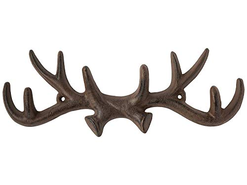 Comfify Vintage Cast Iron Deer Antlers Wall Hooks Antique Finish Metal Clothes...
