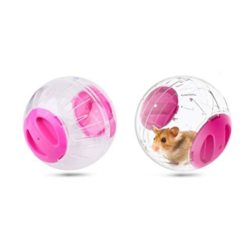 POPETPOP- 2 Stück Hamster-Heimtrainer-Laufräder mit Laufball-Laufball-Miniball für Kleintier-Haustiere