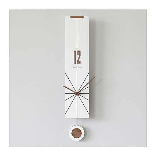 reloj de pared Swinging Péndulo Silent Silent Non-Ticking Salón Dormitorio Creativo Nórdico...