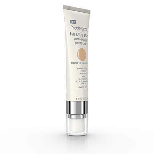 31HcdTcNQ8L - Neutrogena Healthy Skin Anti-Aging Perfector Tinted Facial Moisturizer and Retinol Treatment with Broad Spectrum SPF 20 Sunscreen with Titanium Dioxide, 30 Light to Neutral, 1 fl. oz