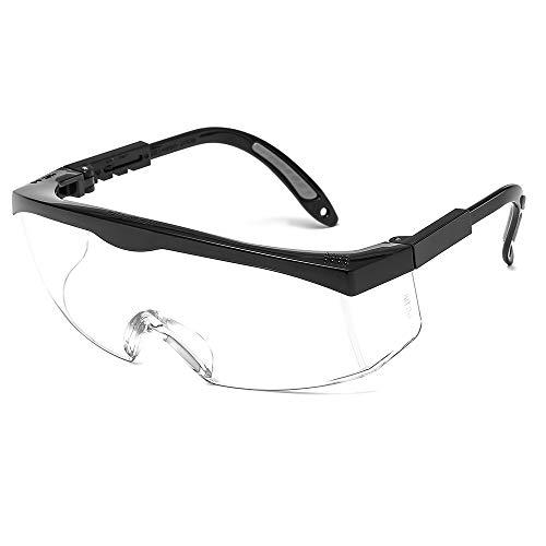 Suertree Gafas Gafas de Seguridad, Proteger los Ojos sobre Gafas Gafas industriales Gafas de Seguridad Transparentes Generales con EN166 ⭐