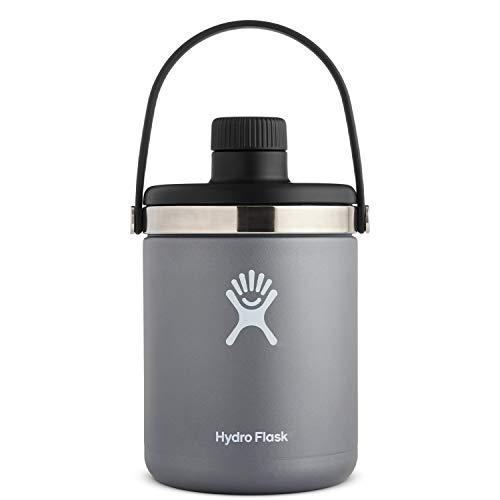 Hydro Flask Oasis Water Jug - Stainless Steel & Vacuum Insulated - Leak Proof Cap - 64 oz, Graphite